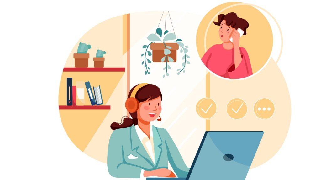 A distance il est plus facile de maitriser son comportement avec le client.