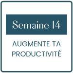 Dans le dernier module de la formation, je t'aide pour avoir une productivité adapté à ton business et tes besoins personnels.